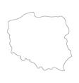 map poland vector image