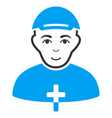 priest flat icon vector image