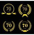 seventy years anniversary vector image