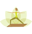Woman in warrior pose vector image