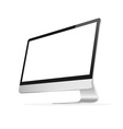 Computer monitor vector image vector image
