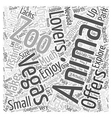 Vegas for Animal Lovers Word Cloud Concept vector image