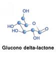 Glucono delta lactone vector image