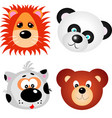animal faces clip art design vector image vector image