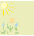 greeting card with nature vector image vector image