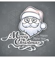 Cheerful Santa face on grey vector image vector image