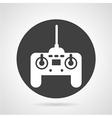 Joystick black round icon vector image vector image