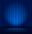Fragment dark blue stage curtain vector image vector image