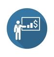 Presentation Icon Business Concept Flat Design vector image