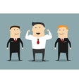 Cartoon powerful businessman with bodyguards vector image vector image