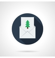 Christmas greetings round flat icon vector image