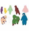 Group children vector image