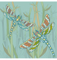 dragonfly blue vector image