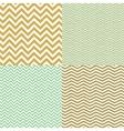 Geometric chevron seamless patterns set Hand drawn vector image