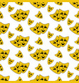 happy and evil mask pattern vector image