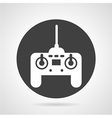 Joystick black round icon vector image