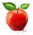 ripe apple logo design template food or fruit vector image