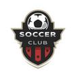 soccer club sport logo vector image