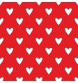 Tile pattern with white hearts on red background vector image