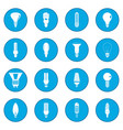 light bulb icon blue vector image