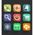 Set of Flat Icons for Web and Mobile Apps vector image vector image
