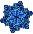 Abstract blue hexagonal pattern vector image