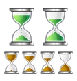 Sand Clock Glass Timer Icons on White Background vector image vector image
