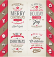 Set of Christmas type designs and flat icons vector image