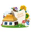 Easter rural background vector image