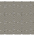 Abstract black and white checkered pattern vector image