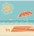 beach scene sea landscape vector image