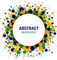 Bright Abstract Circle Frame vector image