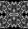 floral black and white seamless pattern damask vector image