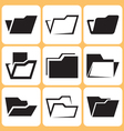 folder icons set vector image