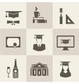 Graduation icons vector image