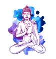illuastration with buddha vector image
