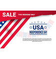 shopping discount sale united states independence vector image