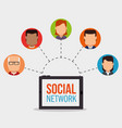 social network concept people connected vector image