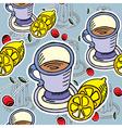 teatime pattern vector image