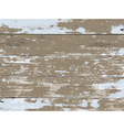 Vintage Aged Peeled Paint Wooden Boards Background vector image