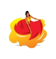 Woman dancer Cartoon vector image