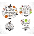 Halloween flat monograms color vector image