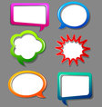 Speech bubble color set vector image vector image