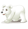 A big white bear vector image vector image