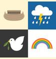 noah ark icons set vector image