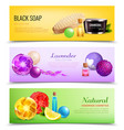 fragrant soap banners collection vector image