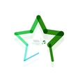 star abstract geometric shape concept vector image vector image