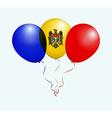 Balloons in as Moldova National Flag vector image