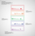 Infographic with bar divided to five color parts vector image