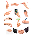 collection of men and women hands vector image